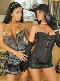 lezbohoneys Kyra Black and Christina Bella Merry widows img